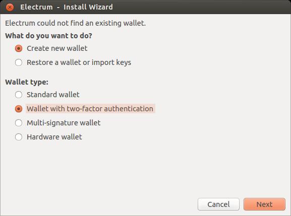Two Factor Authentication — Electrum 3 3 documentation